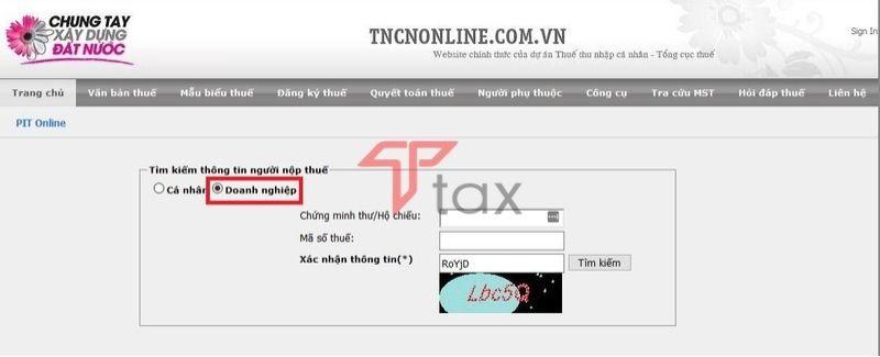 tra cứu mã số thuế
