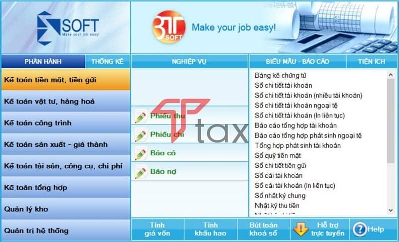 Phần mềm kế toán 3tsoft