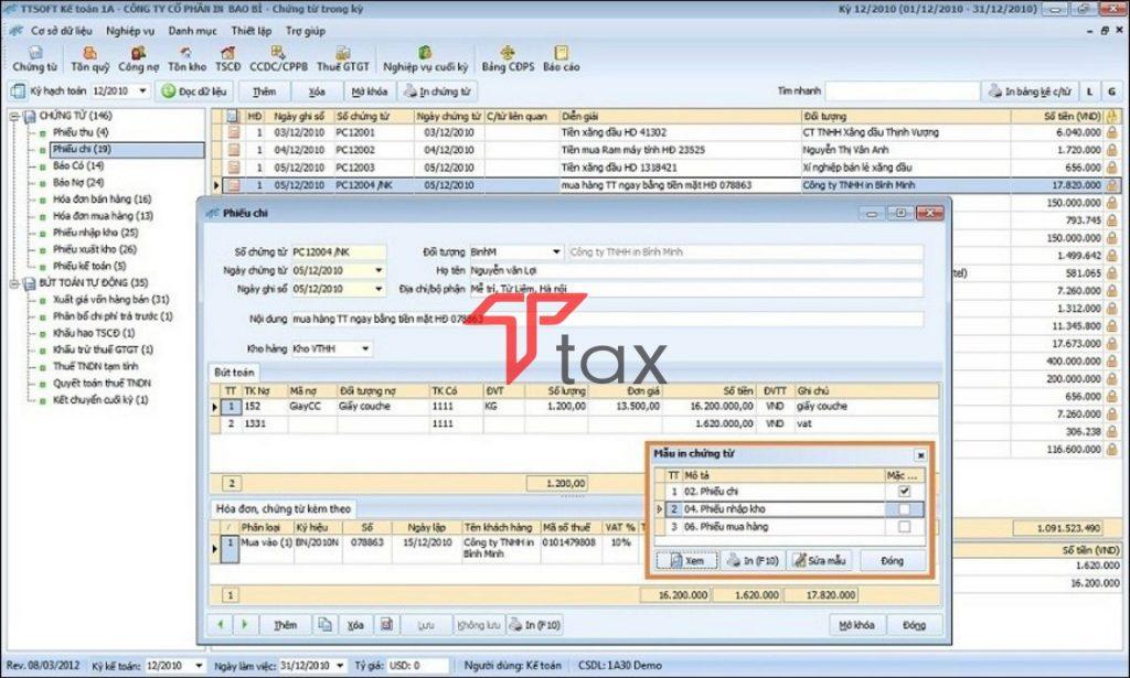Phần mềm kế toán 1A nổi bật với nhiều tính năng vượt trội