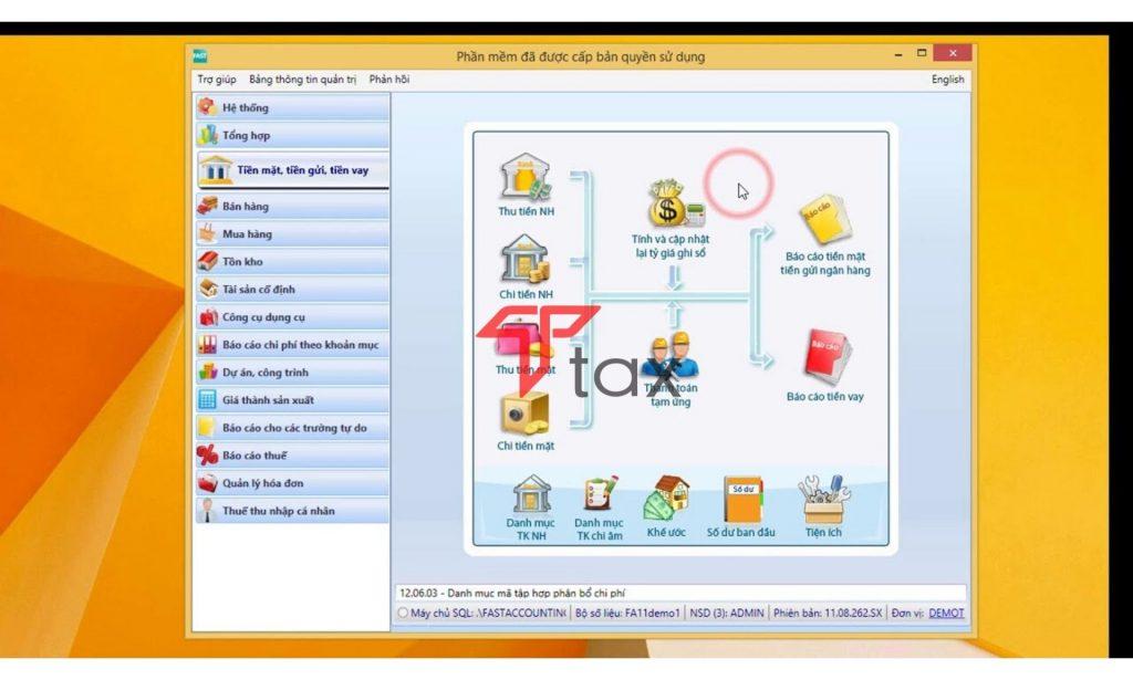 Giao diện phần mềm kế toán Fast Accounting dễ dàng sử dụng