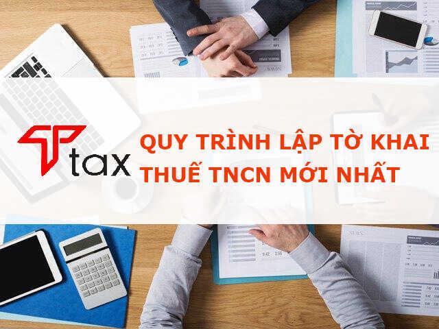 quy trình lập tờ khai thuế