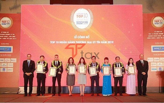 Top 10 Ngân hàng thương mại Việt Nam uy tín năm 2019 của Vietnam Report