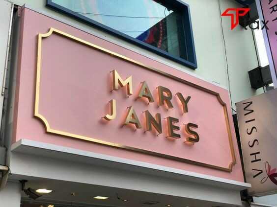 Bảng hiệu shop bán quần áo