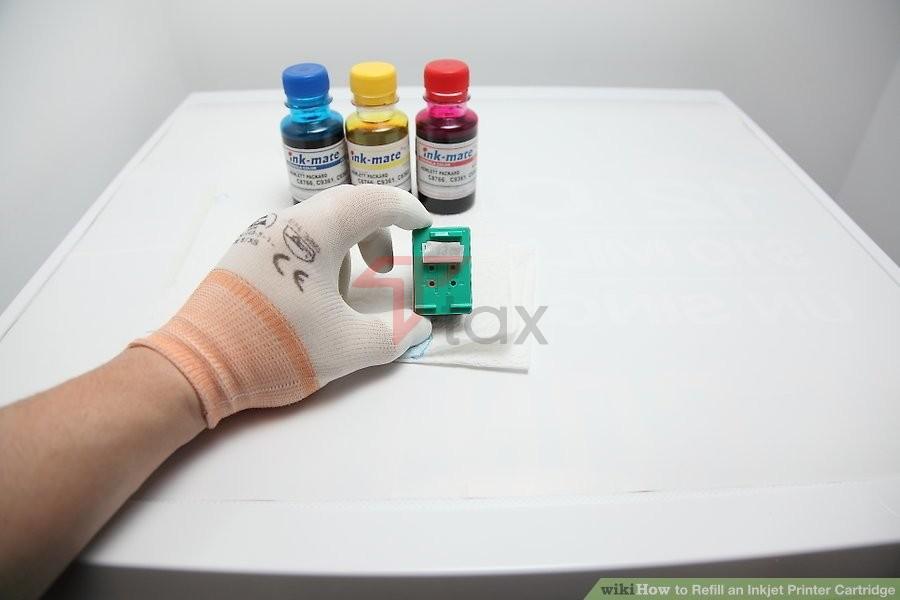 Cách đổ nạp mực máy in phun màu
