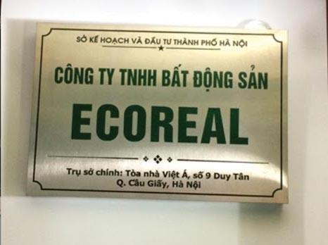 mẫu biển hiệu công ty bất động sản